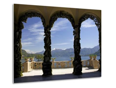 Loggia and Gardens of Villa del Balbianello on Punta di Lavedo, Lenno, Lake Como, Italy-Peter Barritt-Metal Print