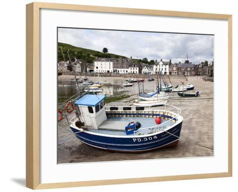 Beached Fishing Boat in the Harbour at Stonehaven, Aberdeenshire, Scotland, United Kingdom, Europe-Mark Sunderland-Framed Art Print