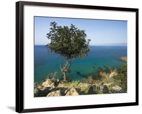 View Along Chrysochou Bay on North West Coast, Near Latsi, Cyprus, Mediterranean, Europe-Stuart Black-Framed Art Print