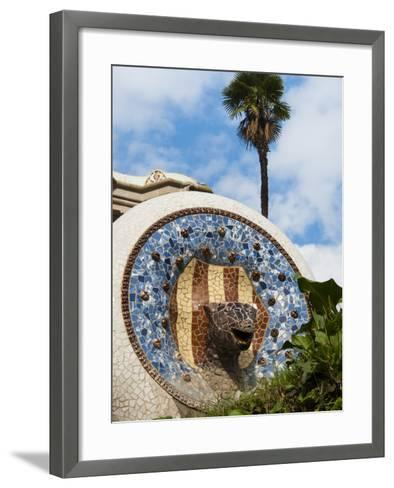 Guell Park (Parc Guell), UNESCO World Heritage Site, Barcelona, Catalunya (Catalonia), Spain-Nico Tondini-Framed Art Print