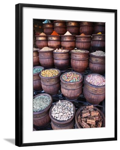 Spice Shop, Marrakech, Morocco, North Africa, Africa-Vincenzo Lombardo-Framed Art Print