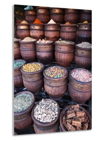 Spice Shop, Marrakech, Morocco, North Africa, Africa-Vincenzo Lombardo-Metal Print