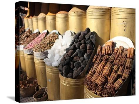 Spice Shop, Marrakech, Morocco, North Africa, Africa-Vincenzo Lombardo-Stretched Canvas Print