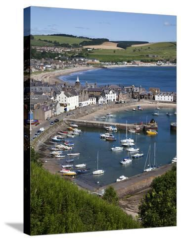 Stonehaven Harbour and Bay from Harbour View, Stonehaven, Aberdeenshire, Scotland, UK, Europe-Mark Sunderland-Stretched Canvas Print