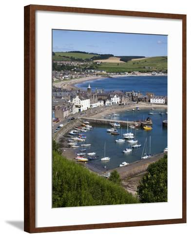 Stonehaven Harbour and Bay from Harbour View, Stonehaven, Aberdeenshire, Scotland, UK, Europe-Mark Sunderland-Framed Art Print