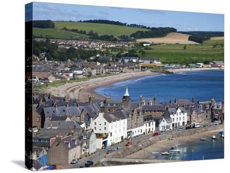 Stonehaven Bay and Quayside from Harbour View, Stonehaven, Aberdeenshire, Scotland, UK, Europe-Mark Sunderland-Stretched Canvas Print