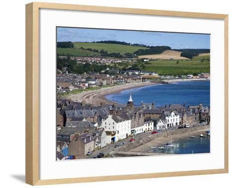 Stonehaven Bay and Quayside from Harbour View, Stonehaven, Aberdeenshire, Scotland, UK, Europe-Mark Sunderland-Framed Art Print
