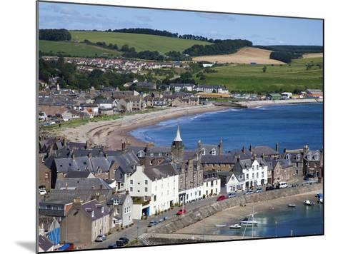 Stonehaven Bay and Quayside from Harbour View, Stonehaven, Aberdeenshire, Scotland, UK, Europe-Mark Sunderland-Mounted Photographic Print