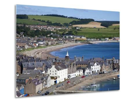 Stonehaven Bay and Quayside from Harbour View, Stonehaven, Aberdeenshire, Scotland, UK, Europe-Mark Sunderland-Metal Print