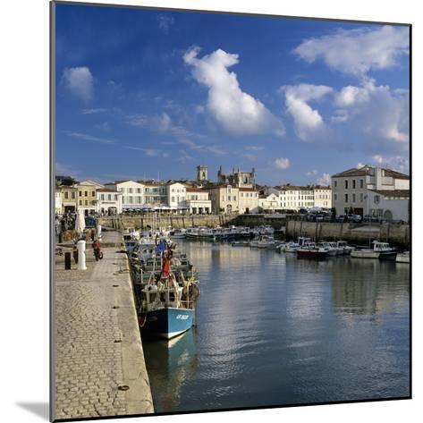 Harbour and Abbey, St. Martin, Ile de Re, Poitou-Charentes, France, Europe-Stuart Black-Mounted Photographic Print