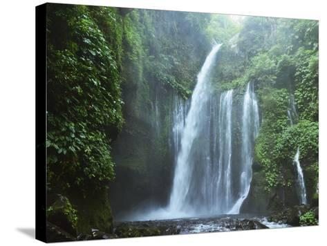 Air Terjun Tiu Kelep Waterfall, Senaru, Lombok, Indonesia, Southeast Asia, Asia-Jochen Schlenker-Stretched Canvas Print