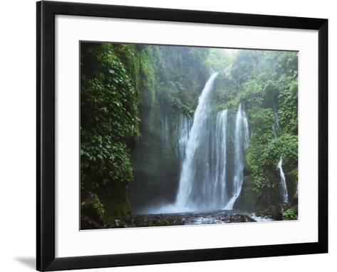 Air Terjun Tiu Kelep Waterfall, Senaru, Lombok, Indonesia, Southeast Asia, Asia-Jochen Schlenker-Framed Art Print