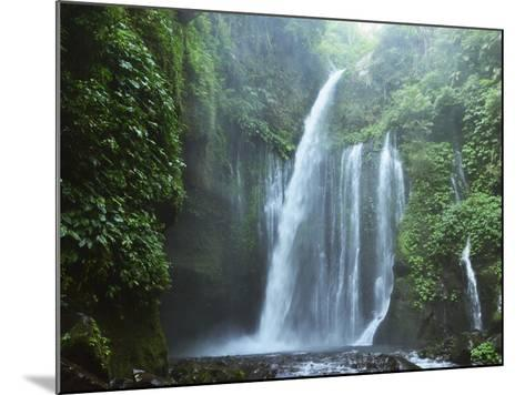 Air Terjun Tiu Kelep Waterfall, Senaru, Lombok, Indonesia, Southeast Asia, Asia-Jochen Schlenker-Mounted Photographic Print