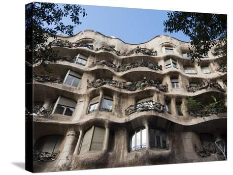 Mila House (Or La Pedrera) by Antoni Gaudi, UNESCO World Heritage Site, Barcelona, Spain-Nico Tondini-Stretched Canvas Print