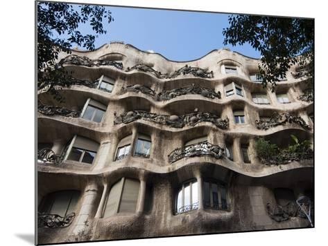 Mila House (Or La Pedrera) by Antoni Gaudi, UNESCO World Heritage Site, Barcelona, Spain-Nico Tondini-Mounted Photographic Print