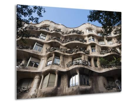 Mila House (Or La Pedrera) by Antoni Gaudi, UNESCO World Heritage Site, Barcelona, Spain-Nico Tondini-Metal Print