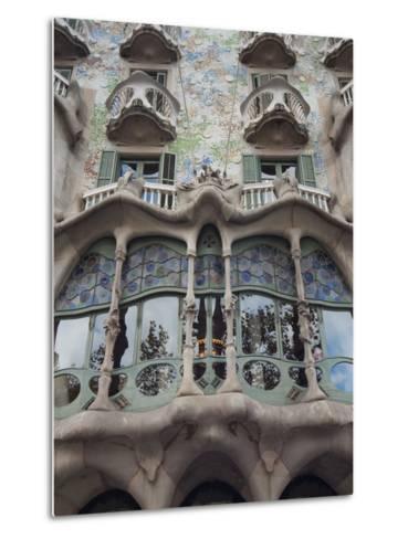 Facade of Casa Batllo by Gaudi, UNESCO World Heritage Site, Passeig de Gracia, Barcelona, Spain-Nico Tondini-Metal Print