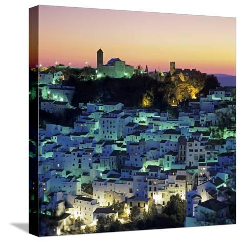 White Andalucian Village at Dusk, Casares, Andalucia, Spain, Europe-Stuart Black-Stretched Canvas Print