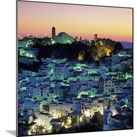White Andalucian Village at Dusk, Casares, Andalucia, Spain, Europe-Stuart Black-Mounted Photographic Print