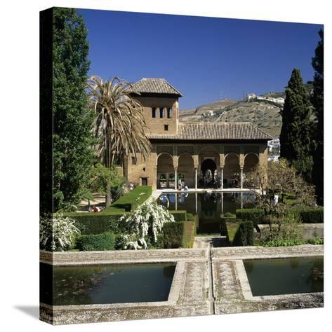 View over Gardens, Alhambra Palace, UNESCO World Heritage Site, Granada, Andalucia, Spain, Europe-Stuart Black-Stretched Canvas Print