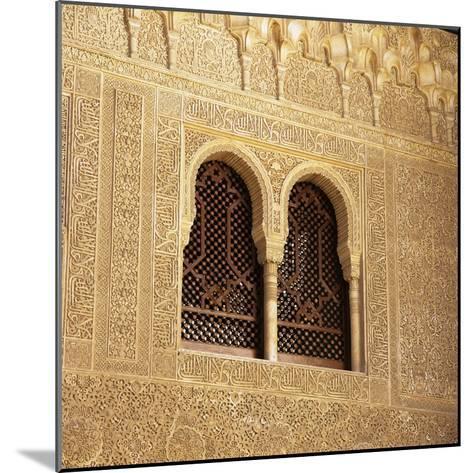 Moorish Window and Arabic Inscriptions, Alhambra Palace, UNESCO World Heritage Site, Spain-Stuart Black-Mounted Photographic Print