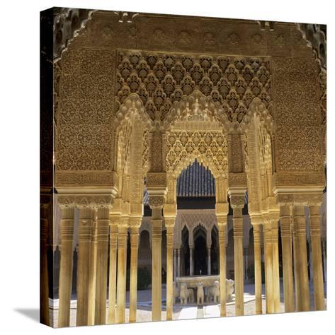 Court of the Lions, Alhambra Palace, UNESCO World Heritage Site, Granada, Andalucia, Spain, Europe-Stuart Black-Stretched Canvas Print