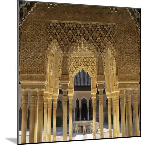 Court of the Lions, Alhambra Palace, UNESCO World Heritage Site, Granada, Andalucia, Spain, Europe-Stuart Black-Mounted Photographic Print