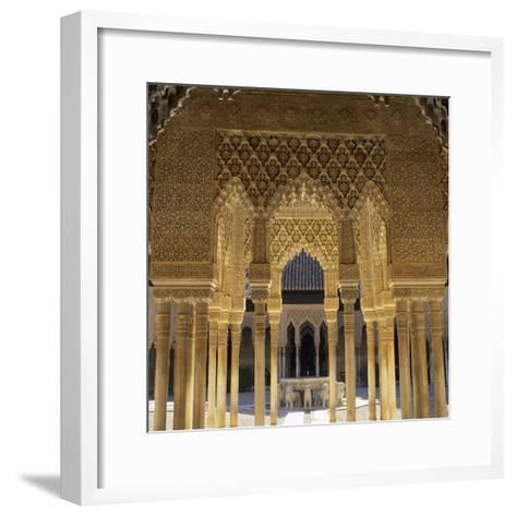 Court of the Lions, Alhambra Palace, UNESCO World Heritage Site, Granada, Andalucia, Spain, Europe-Stuart Black-Framed Art Print