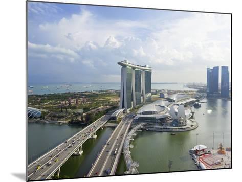 The Helix Bridge and Marina Bay Sands Singapore, Marina Bay, Singapore, Southeast Asia, Asia-Gavin Hellier-Mounted Photographic Print