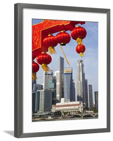 City Kkyline and Financial District, Singapore, Southeast Asia, Asia-Gavin Hellier-Framed Art Print