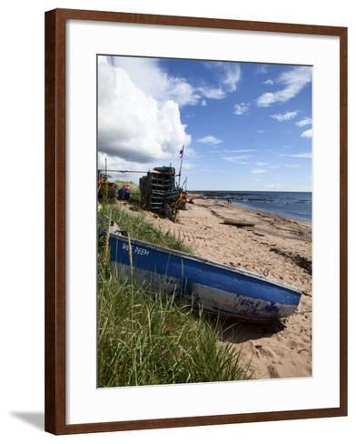 Fishing Boat on the Beach at Carnoustie, Angus, Scotland, United Kingdom, Europe-Mark Sunderland-Framed Art Print