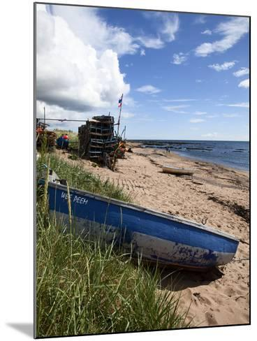 Fishing Boat on the Beach at Carnoustie, Angus, Scotland, United Kingdom, Europe-Mark Sunderland-Mounted Photographic Print