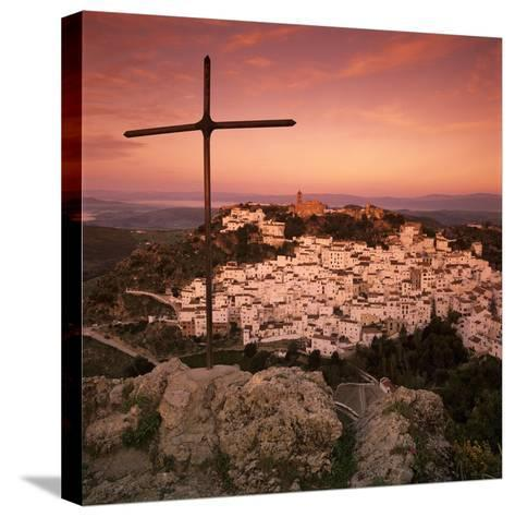 Sunrise over Typical White Andalucian Village, Casares, Andalucia, Spain, Europe-Stuart Black-Stretched Canvas Print