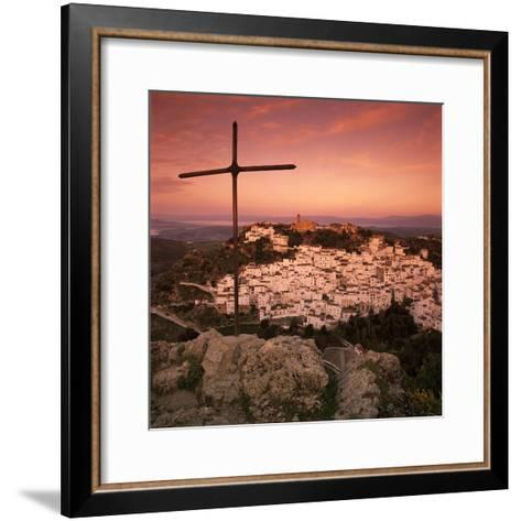 Sunrise over Typical White Andalucian Village, Casares, Andalucia, Spain, Europe-Stuart Black-Framed Art Print