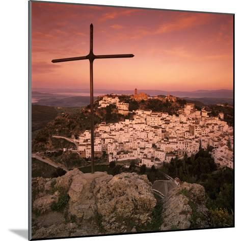 Sunrise over Typical White Andalucian Village, Casares, Andalucia, Spain, Europe-Stuart Black-Mounted Photographic Print