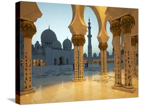 Sheikh Zayed Mosque, Abu Dhabi, United Arab Emirates, Middle East-Angelo Cavalli-Stretched Canvas Print