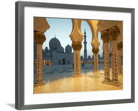 Sheikh Zayed Mosque, Abu Dhabi, United Arab Emirates, Middle East-Angelo Cavalli-Framed Art Print