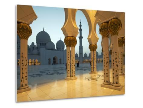 Sheikh Zayed Mosque, Abu Dhabi, United Arab Emirates, Middle East-Angelo Cavalli-Metal Print