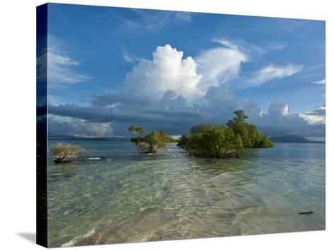 Huge Cloud Formations over the Marovo Lagoon, Solomon Islands, Pacific-Michael Runkel-Stretched Canvas Print