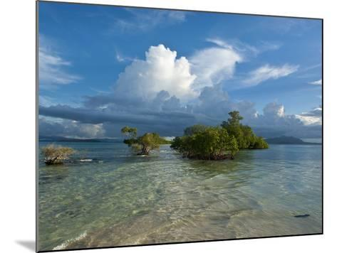 Huge Cloud Formations over the Marovo Lagoon, Solomon Islands, Pacific-Michael Runkel-Mounted Photographic Print