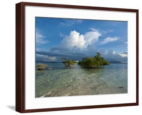 Huge Cloud Formations over the Marovo Lagoon, Solomon Islands, Pacific-Michael Runkel-Framed Art Print