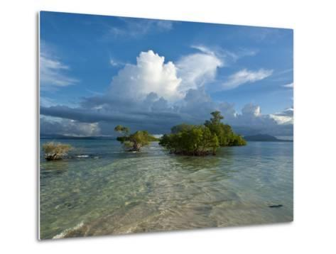 Huge Cloud Formations over the Marovo Lagoon, Solomon Islands, Pacific-Michael Runkel-Metal Print