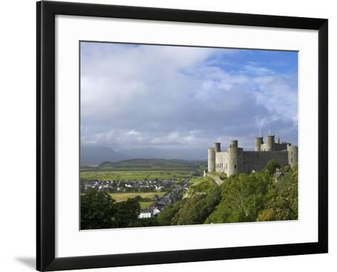Harlech Castle in Summer Sunshine, UNESCO World Heritage Site, Gwynedd, Wales, UK, Europe-Peter Barritt-Framed Art Print
