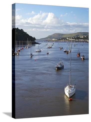 River Conwy Estuary Looking to Deganwy and Great Orme, Llandudno, Summer, Gwynedd, North Wales, UK-Peter Barritt-Stretched Canvas Print