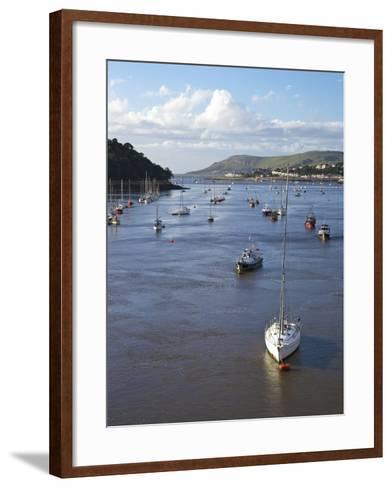 River Conwy Estuary Looking to Deganwy and Great Orme, Llandudno, Summer, Gwynedd, North Wales, UK-Peter Barritt-Framed Art Print