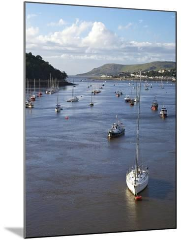 River Conwy Estuary Looking to Deganwy and Great Orme, Llandudno, Summer, Gwynedd, North Wales, UK-Peter Barritt-Mounted Photographic Print
