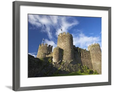 Conwy Medieval Castle in Summer, UNESCO World Heritage Site, Gwynedd, North Wales, UK, Europe-Peter Barritt-Framed Art Print