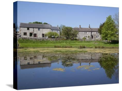 Village Pond, Monyash, Peak District, Derbyshire, England, United Kingdom, Europe-Frank Fell-Stretched Canvas Print