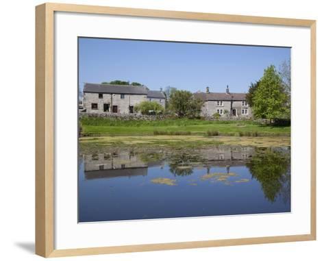 Village Pond, Monyash, Peak District, Derbyshire, England, United Kingdom, Europe-Frank Fell-Framed Art Print