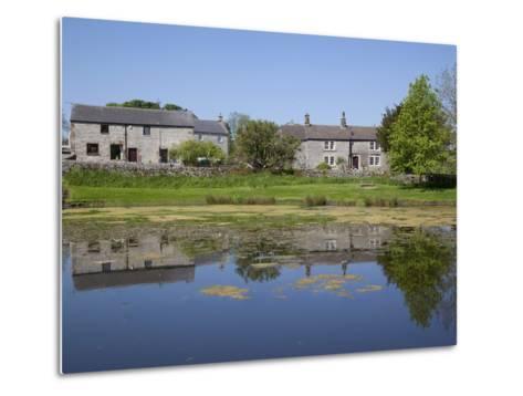 Village Pond, Monyash, Peak District, Derbyshire, England, United Kingdom, Europe-Frank Fell-Metal Print